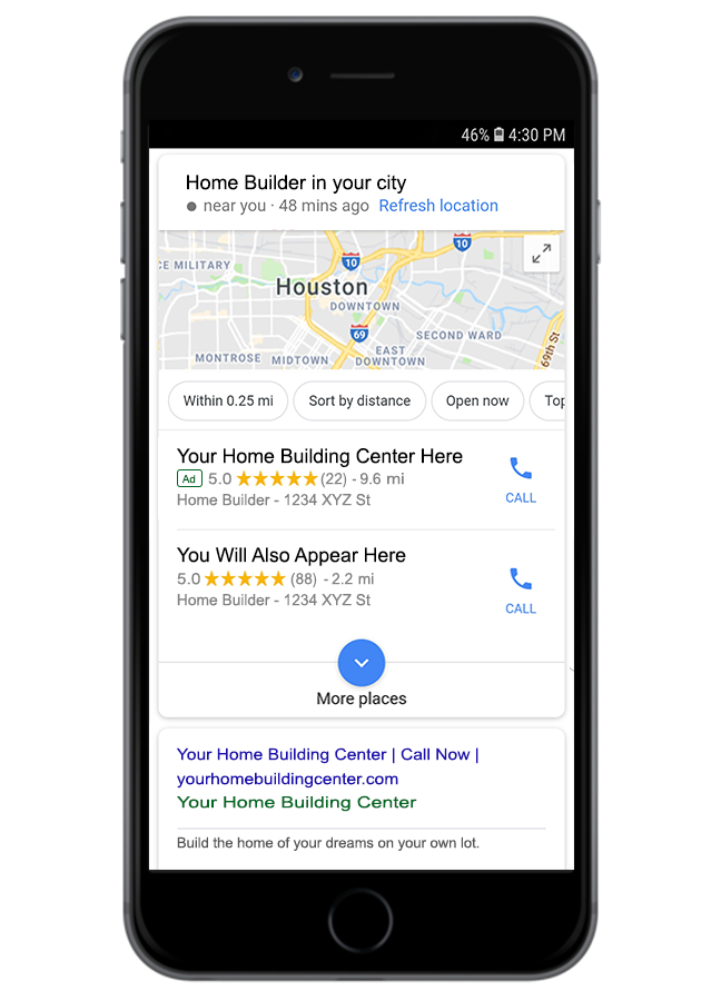 home builder ppc search