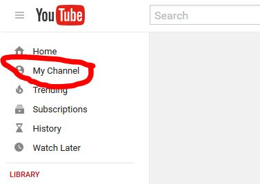 my youtube channel button
